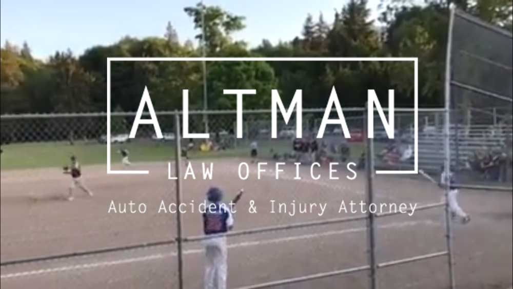 Altman Law Sponsors Baseball
