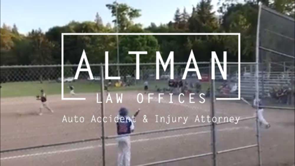 Altman Law Sponsors Baseball